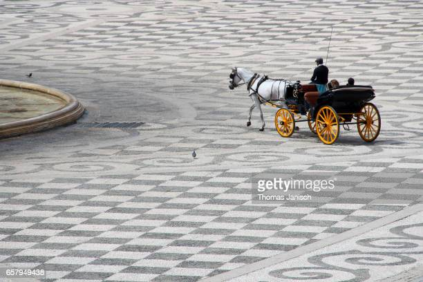 Horse-drawn carriage at Plaza de Espana, Seville