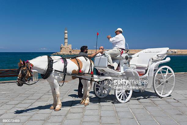 Horse-drawn carriage, Hania, Crete