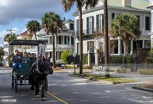 Horse-Drawn Carriage in Historic Charleston, South Carolina