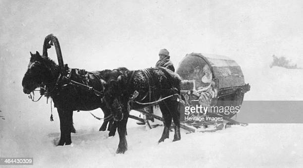 Horsedrawn sledge Siberia Russia 1890s Found in the collection of the State Museum of History Moscow