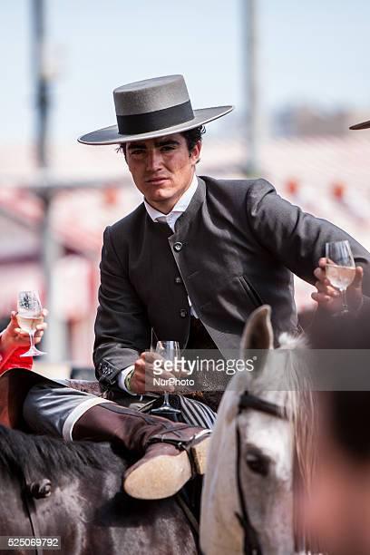 A horseman drinks at the quotFeria de Abrilquot Seville Spain 22 april 2015