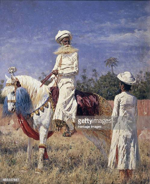A horseman in Jaipur 1881 Found in the collection of the State Tretyakov Gallery Moscow