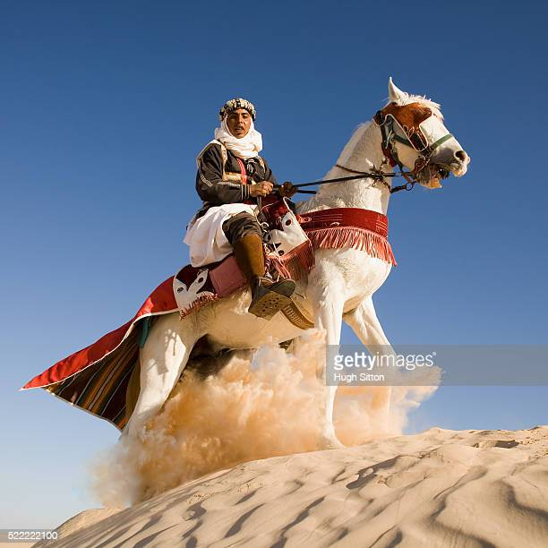 horseman on sand dune - hugh sitton stock pictures, royalty-free photos & images