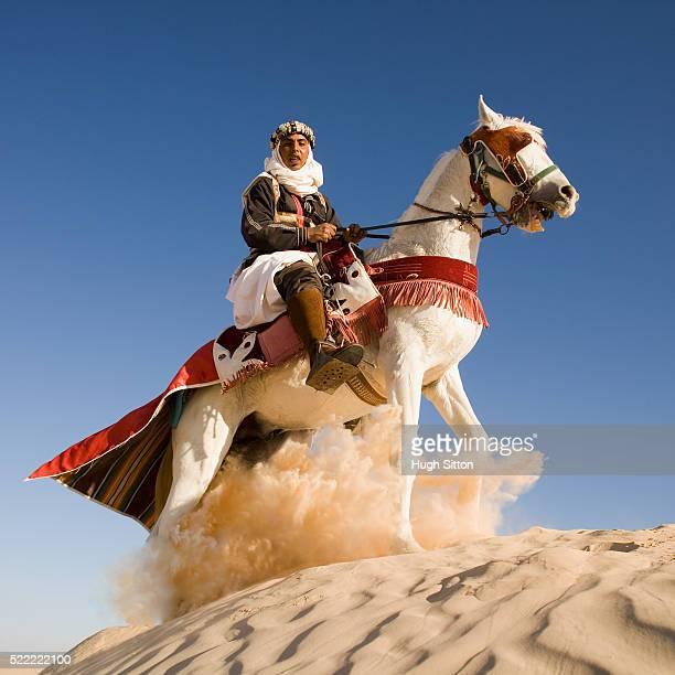 Horseman on Sand Dune