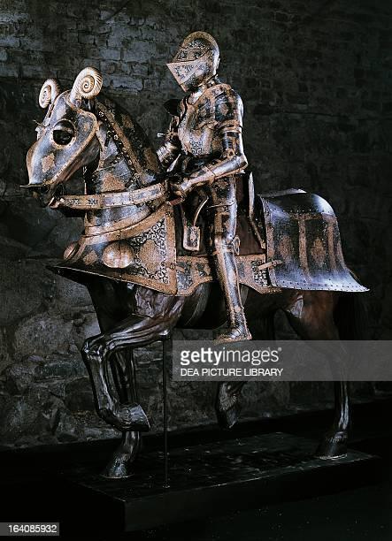 Horseman's armour and reins belonging to Sigismund of Poland work by armourer Kunz Lochner Stoccolma Livrustkammaren