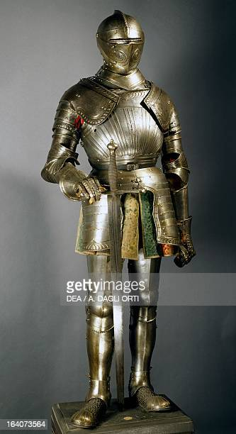 Horseman's armour in steel made in southern Germany 15151530 Germany 16th century Florence Museo Stibbert