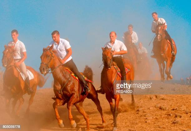Horsemen of the Ardia horseraceSediloSardiniaItaly