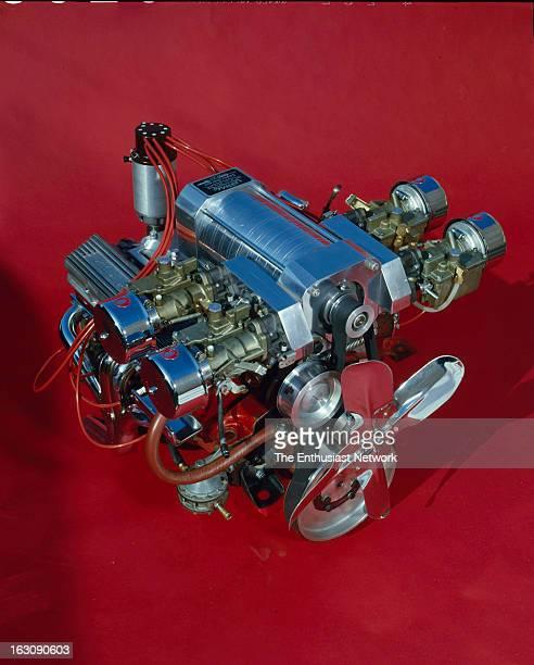 Horsepower Supercharged Chevrolet Corvette Engine by Les Richey of Performance Associates Installed in Ernie Landell's 1957 Corvette