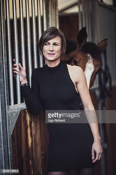 Horserider Penelope Leprevost is photographed for Gala on November 25 2015 in Paris France