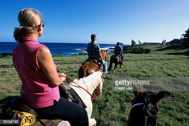 Horseriders, Hotel Hana-Maui, Maui, Hawaii, United States of America, North America