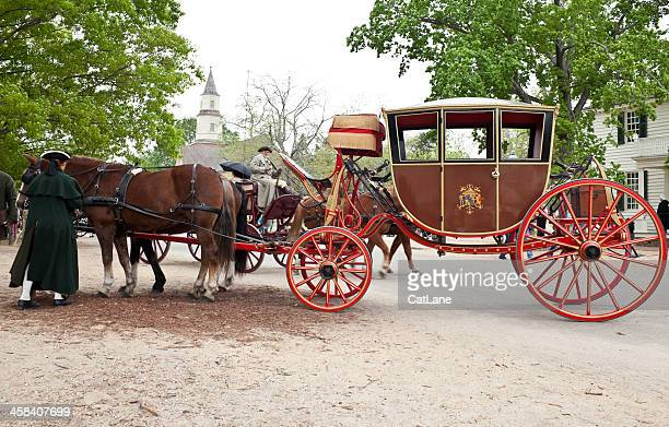 horses and carriage - 18th century style stock pictures, royalty-free photos & images