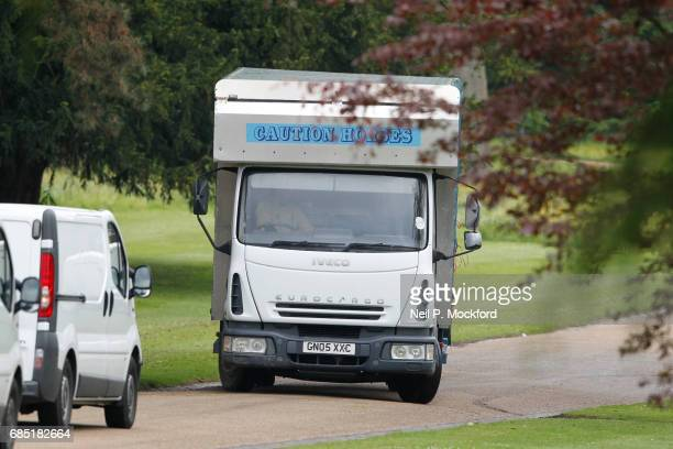 Horses being delivered to St Mark's Church ahead of the Wedding of Pippa Middleton and James Matthews on May 19 2017 in Englefield Berkshire