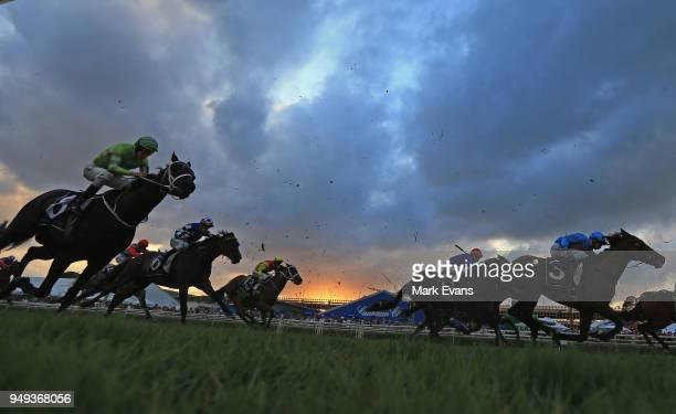 Horses compete in Race 9, the last race of the Championships during the All Aged Stakes Day as part of Sydney Racing at Royal Randwick Racecourse on...