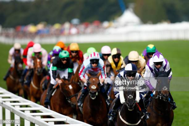 Horses run in the Queen Alexandra Stakes on day 5 of Royal Ascot at Ascot Racecourse on June 23 2018 in Ascot England