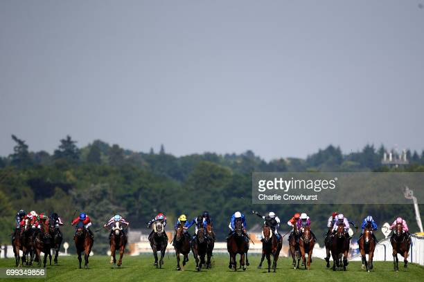 Horses run in The Royal Hunt Cup during day 2 of Royal Ascot at Ascot Racecourse on June 21 2017 in Ascot England