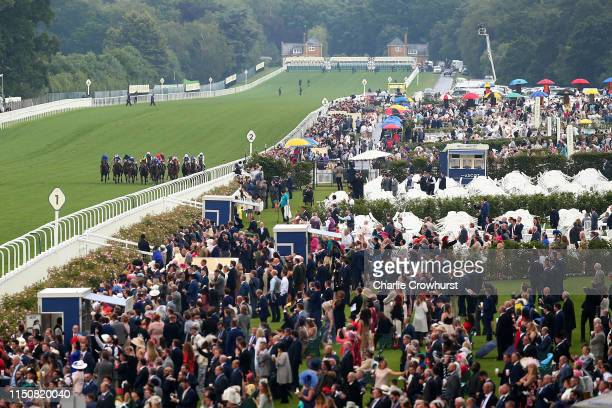 Horses run in The Royal Hunt Cup on day two of Royal Ascot at Ascot Racecourse on June 19, 2019 in Ascot, England.