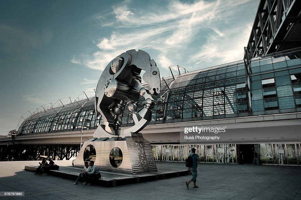 Horse Shaped Sculpture On The Staircase Of Berlin Central Station (Berlin  Hautbahnhof),