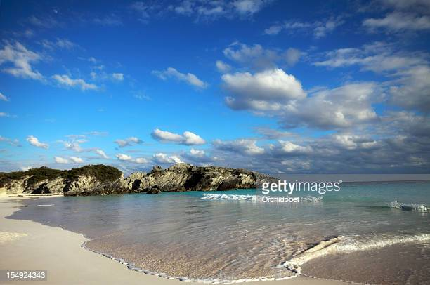 horseshoe bay in bermuda - southampton parish stock photos and pictures