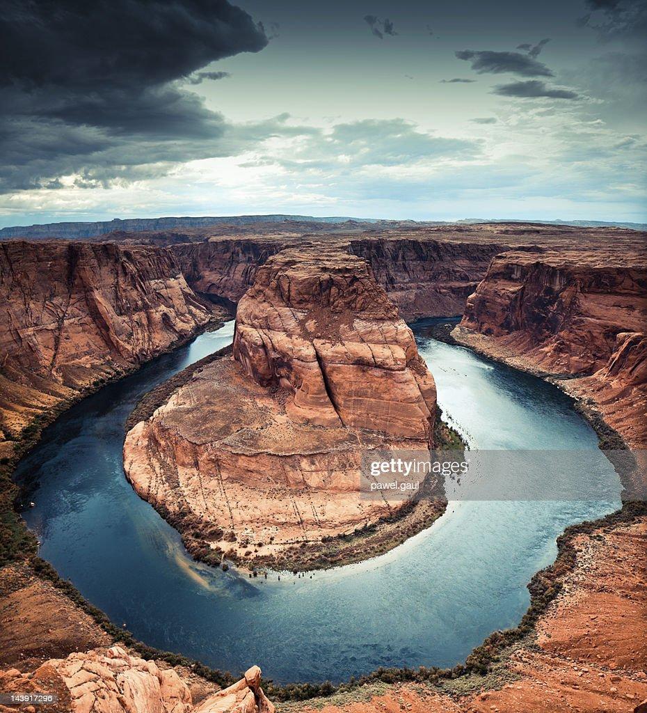 Horseshoe bend, Arizona : Foto de stock