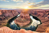 Horseshoe Bend At Sunset - Colorado River, Arizona