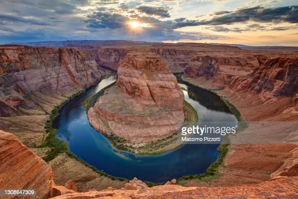 horseshoe bend in arizona - massimo pizzotti foto e immagini stock