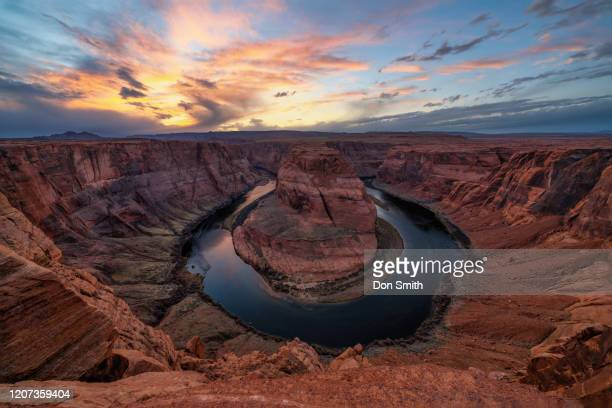horseshoe bend, page, arizona - don smith stock pictures, royalty-free photos & images