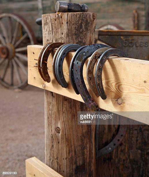 Horseshoes on the fence