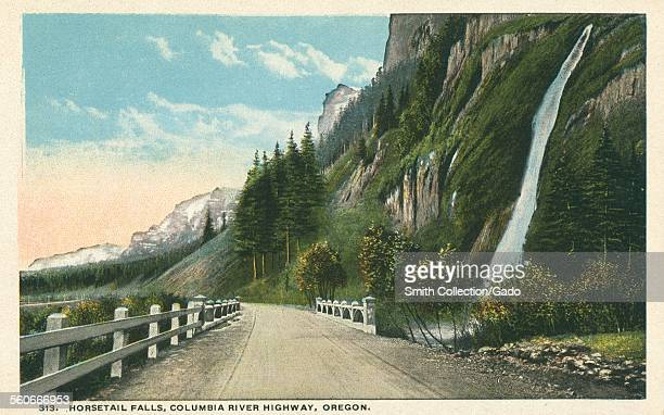 Horsetail falls and the Columbia River Highway Oregon 1905