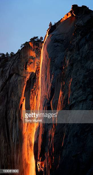 horsetail firefall ii, yosemite, ca, usa - firefall stock photos and pictures