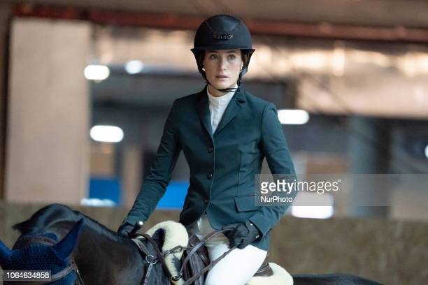 US horsewoman Jessica Springsteen competes during Madrid Horse Week at IFEMA in Madrid Spain 23 November 2018 Madrid Horse Week runs from 23 to 25...