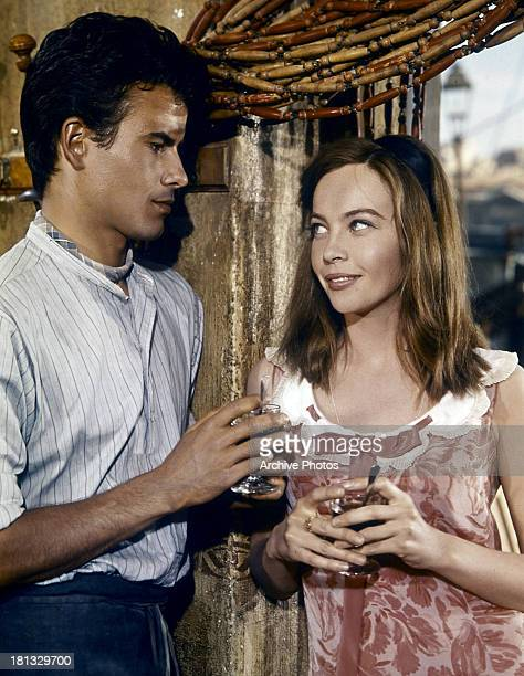 Horst Buchholz and Leslie Caron in a scene from the film 'Fanny' 1961