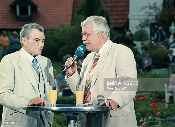 Horst Buchholz Carlo von Tiedemann Dieaktuelle SchaubudeN3FernsehshowInterview Mikrophon Park