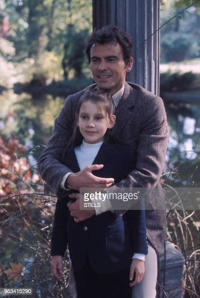 Horst Buchholz et sa fille Béatrice dans les années 80 à Paris, France.