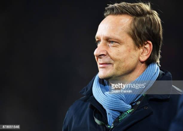 Horst Heldt manager of Hannover 96 before the Bundesliga match between Hannover 96 and VfB Stuttgart at HDIArena on November 24 2017 in Hanover...
