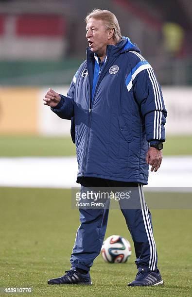 Horst Hrubesch head coach of Germany before he U21 Germany v U21 Netherlands International Friendly match at Audi Sportpark on November 13, 2014 in...