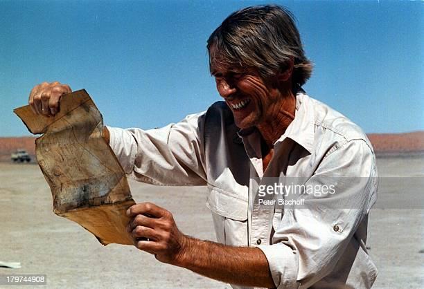 Horst Janson ARDThriller Im Zeichen desAffen Dreharbeiten südafrikanischeWüste/Namibia Karte