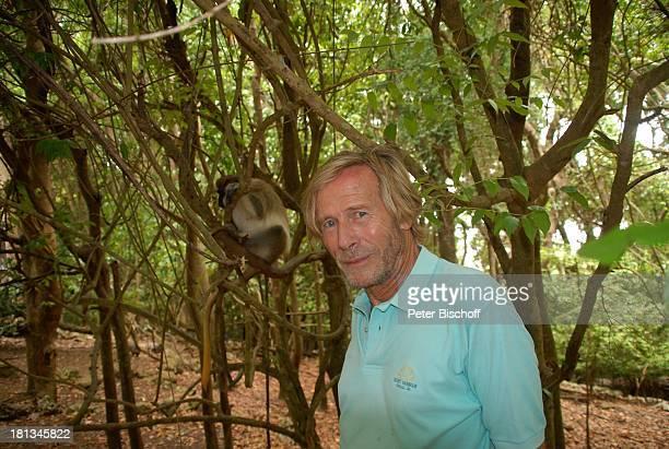 Horst Janson Green MonkeyAffe InselAusflug WildPark Wildlife Reserve Insel Barbados Karibik Primat Tier Urlaub Schauspieler