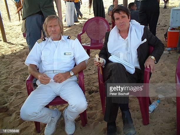 Horst Janson Oliver Tobias ARDSerie Unter weißen Segeln 3 Folge Gizeh/Ägypten/Afrika Kapitän Uniform Wüste Sand Schauspieler Promis Prominente...