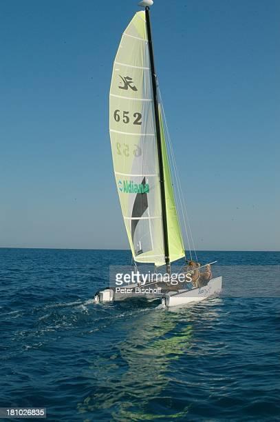 Horst Janson Tochter LauraMaria Janson Sarigerme/Türkei/Europa Club Aldiana Türkische Ägäis Urlaub Meer Schauspieler Familie Catamaran segeln...