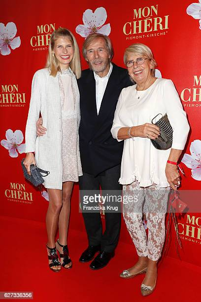 Horst Janson with his daughter Laura Janson and his wife Hella Janson during the Mon Cheri Barbara Tag at Postpalast on December 2 2016 in Munich...