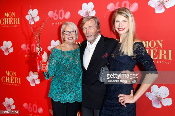 Horst Janson with his daughter Laura Janson and his wife Hella Janson attend the Mon Cheri Barbara Tag 2017 at Postpalast on November 30 2017 in...