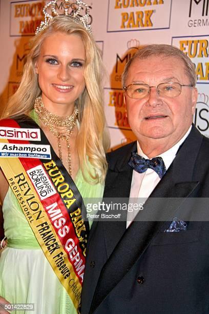Horst Klemmer AnneKathrin Kosch PK nach der Wahl zu 'Miss Germany 2011' 'Europa Park' Rust bei Freiburg BadenWürttemberg Deutschland Europa...