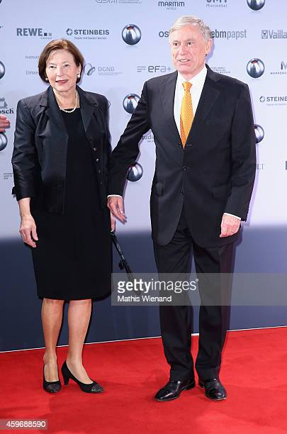 Horst Koehler and wife Eva Luise attend the German Sustainability Award on November 28 2014 in Duesseldorf Germany
