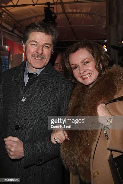 Horst Kummeth and Eva Kummeth attend the Bavarian Movie Awards 2013 on January 18, 2013 in Munich, Germany.