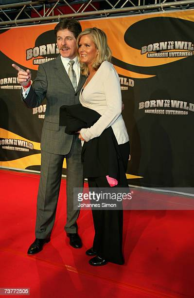 Horst Kummeth and his wife Eva attend the German film premiere of Born to be wild saumaessig unterwegs on April 2 2007 in Munich Germany