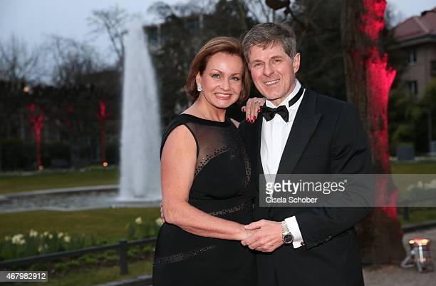 Horst Kummeth and his wife Eva during the Spring Ball Frankfurt 2015 at Palmengarten on March 28, 2015 in Frankfurt am Main, Germany.