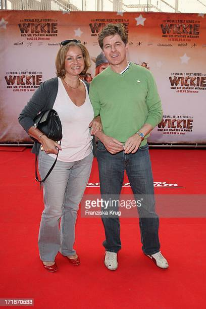 Horst Kummeth and his wife Eva Kummeth at the Premiere Of Vicky And The Strong Men In Mathäser cinema in Munich