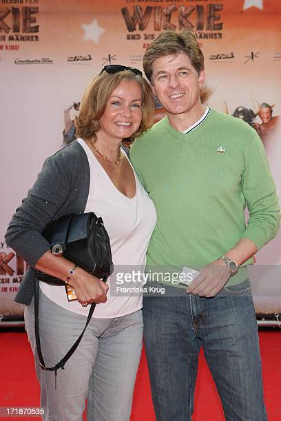 """Horst Kummeth and his wife Eva Kummeth at the Premiere Of """"Vicky And The Strong Men"""" In Mathäser cinema in Munich"""