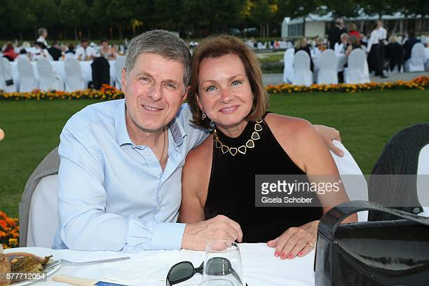 Horst Kummeth and his wife Eva Kummeth during the Summer Reception of the Bavarian State Parliament at Schleissheim Palace on July 19, 2016 in...