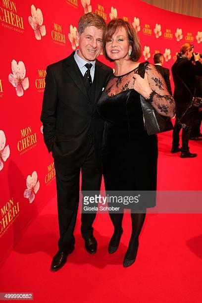 Horst Kummeth and his wife Eva Kummeth the Mon Cheri Barbara Tag 2015 at Postpalast on December 4, 2015 in Munich, Germany.